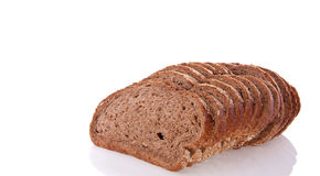 пшеница ломтиков хлеба коричневая вся Стоковое фото RF
