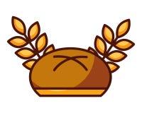 Пшеница плюшки хлеба выходит пекарня еды бесплатная иллюстрация