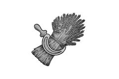 пшеница серпа иллюстрации Стоковая Фотография