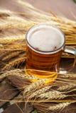 Пшеница Стеклянное пиво Лето напольно Стоковое Изображение