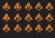 пылайте иконы иллюстрация вектора