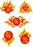 пылать баскетболов Стоковое Фото