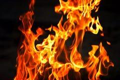 пылать пожара Стоковая Фотография