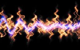 пылающие воздушные волны иллюстрация вектора