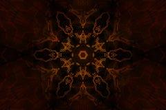 пылая оккультный символ Стоковое Фото