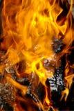 пылая пожар Стоковое фото RF