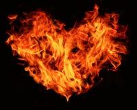пылая сердце Стоковые Фотографии RF