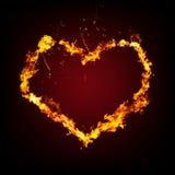 пылая творческое сердце Стоковая Фотография RF