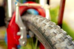Пылевоздушный конец-вверх колеса MTB, одна часть колеса велосипеда Стоковые Фото