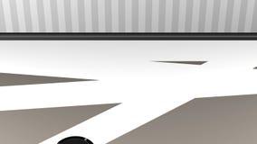 Пылесос робота очищает пакостный пол иллюстрация штока
