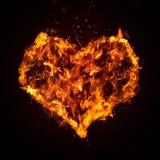 пылкое сердце Стоковые Фото