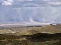 Пыльная буря в северной пустыне Невады Стоковая Фотография RF