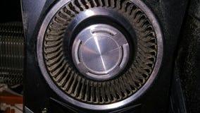 Пыль на лопатке вентилятора видеокарты стоковое фото rf