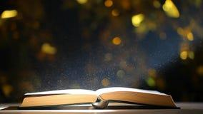 Пыль таблицы книги никто отснятый видеоматериал hd bokeh золота видеоматериал
