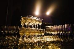 Пышная пирамида шампанского Стоковая Фотография
