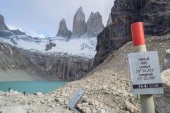 Пышное Torres del Paine стоковые изображения