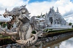 Пышно грандиозный белый висок Rong Khun виска, Chiang Rai Стоковая Фотография RF
