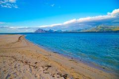 Пышный seascape на зоре стоковое изображение