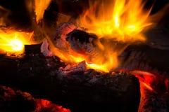 пылая пожар Стоковое Изображение RF