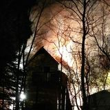 пылая пожар Стоковая Фотография RF