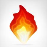 Пылая элемент вектора пламени огня Стоковые Изображения RF