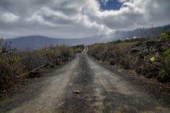 Пылевоздушная дорога в долине golfo el Стоковая Фотография
