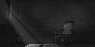 Пылевоздушная старая комната Стоковая Фотография