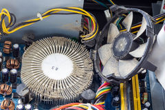 Пылевоздушные части компьютера Стоковая Фотография RF