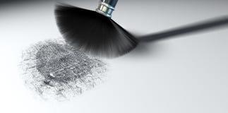 Пылиться для фингерпринтов на белизне Стоковые Изображения