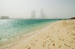 Пыльная буря в Абу-Даби Стоковое Изображение