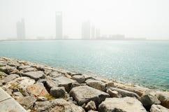 Пыльная буря в Абу-Даби Стоковые Фото