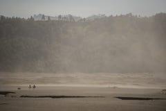 Пыльная буря в пустыне на горе Ява Bromo, Индонезии Стоковая Фотография
