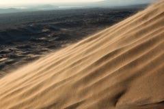 Пыльная буря в пустыне Стоковая Фотография