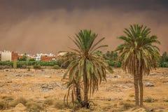 Пыльная буря в Gafsa, Тунисе Стоковые Фото