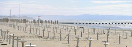 Пыльная буря на купая пляже Стоковое Изображение RF