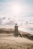 Пыльная буря на маяке Стоковые Изображения