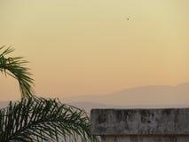 Пыльная буря - Kinneret и Голанские высоты Стоковое фото RF
