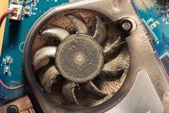 Пыль внутри вентилятора компьютера Стоковое Изображение RF