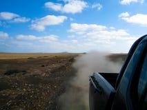 Пыль и автомобиль Стоковые Изображения RF