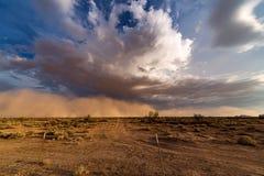 Пыль и пыльная буря Haboob Стоковые Изображения