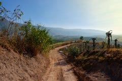 Пыль сельской местности дороги Стоковая Фотография