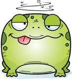 Пьяная маленькая лягушка иллюстрация штока