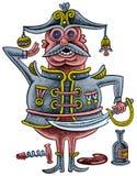 Пьяный офицер с саблей Стоковое Фото