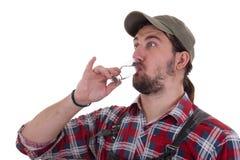 Пьяный работник Стоковое Изображение