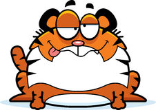 Пьяный тигр шаржа Стоковое Изображение RF