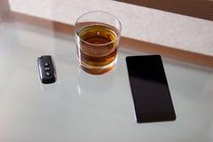 Пьяный управлять - причина автомобильной катастрофы Стоковая Фотография RF