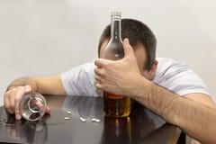 Пьяный человек стоковые фотографии rf