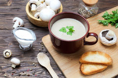 Пюре супа гриба champignon Стоковая Фотография RF