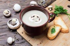 Пюре супа гриба champignon Стоковая Фотография