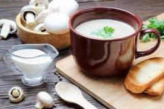 Пюре супа гриба champignon Стоковое Фото